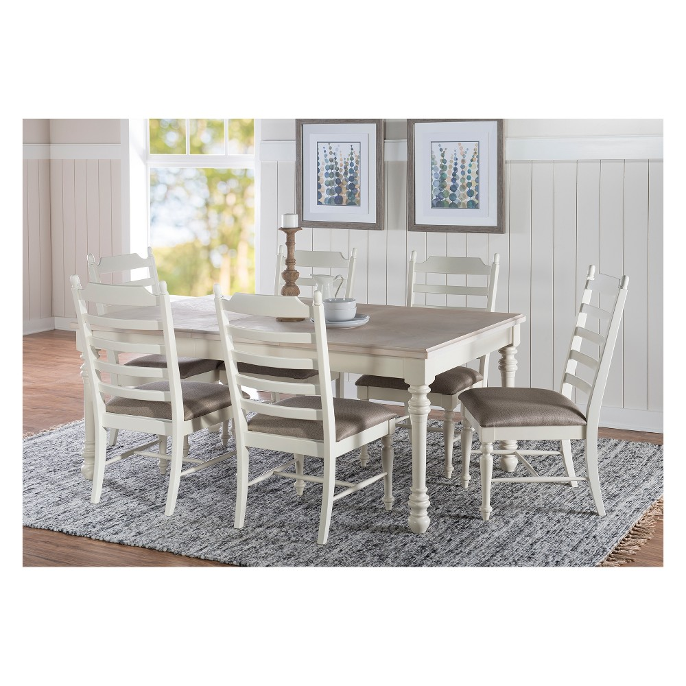 7pc Walker Dining Set Whitewash - Powell Company