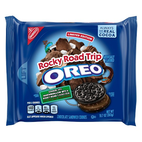 Oreo Limited Edition Rocky Road Trip Chocolate Sandwich Cookies - 10.7oz - image 1 of 7