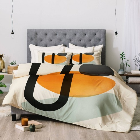 Domonique Brown Oranges Comforter Set - Deny Designs - image 1 of 3