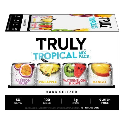 Truly Hard Seltzer Tropical Mix Pack - 12pk/12 fl oz Slim Cans