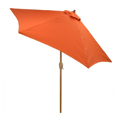 9' Round Umbrella - Coral - Wood Pole - Threshold™