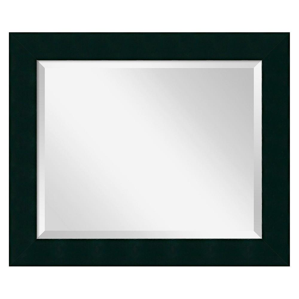 Image of Rectangle Tribeca Decorative Wall Mirror Black - Amanti Art