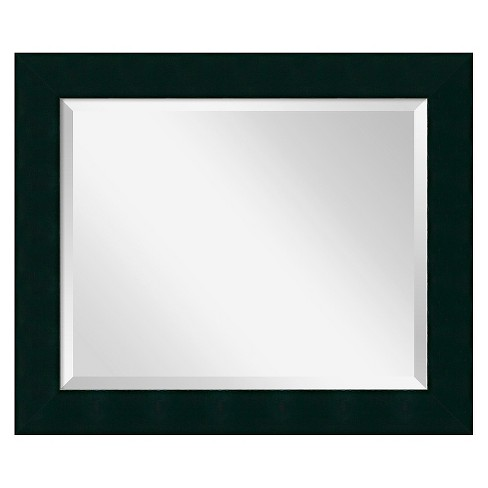 Rectangle Tribeca Decorative Wall Mirror Black - Amanti Art - image 1 of 9
