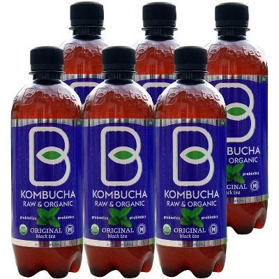 B-Tea Raw & Organic Original - 6pk/16 fl oz Bottles