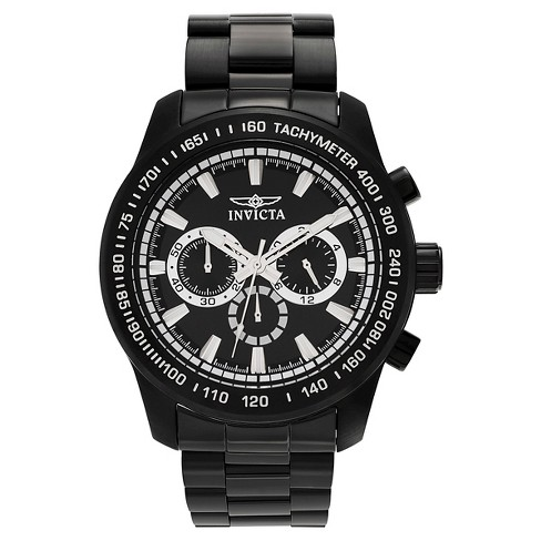 Men's Invicta 21815 Speedway Quartz Chronograph Black Dial Link Watch - Black - image 1 of 3
