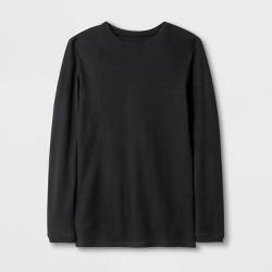 Men's Short Long Micro Thermal T-Shirt - Goodfellow & Co™ Black