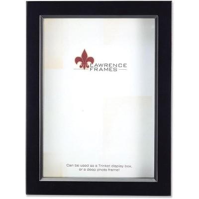 Lawrence Frames 795080 Black Wood Treasure Box Shadow Box 8x10 Picture Frame