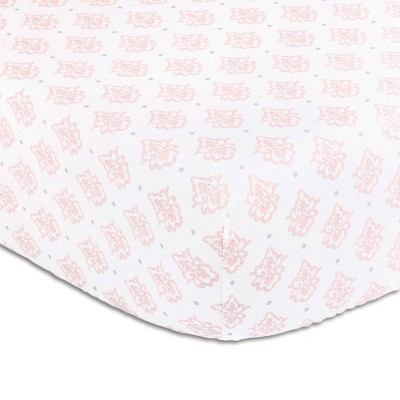 The Peanutshell Arianna Cotton Fitted Crib Sheet
