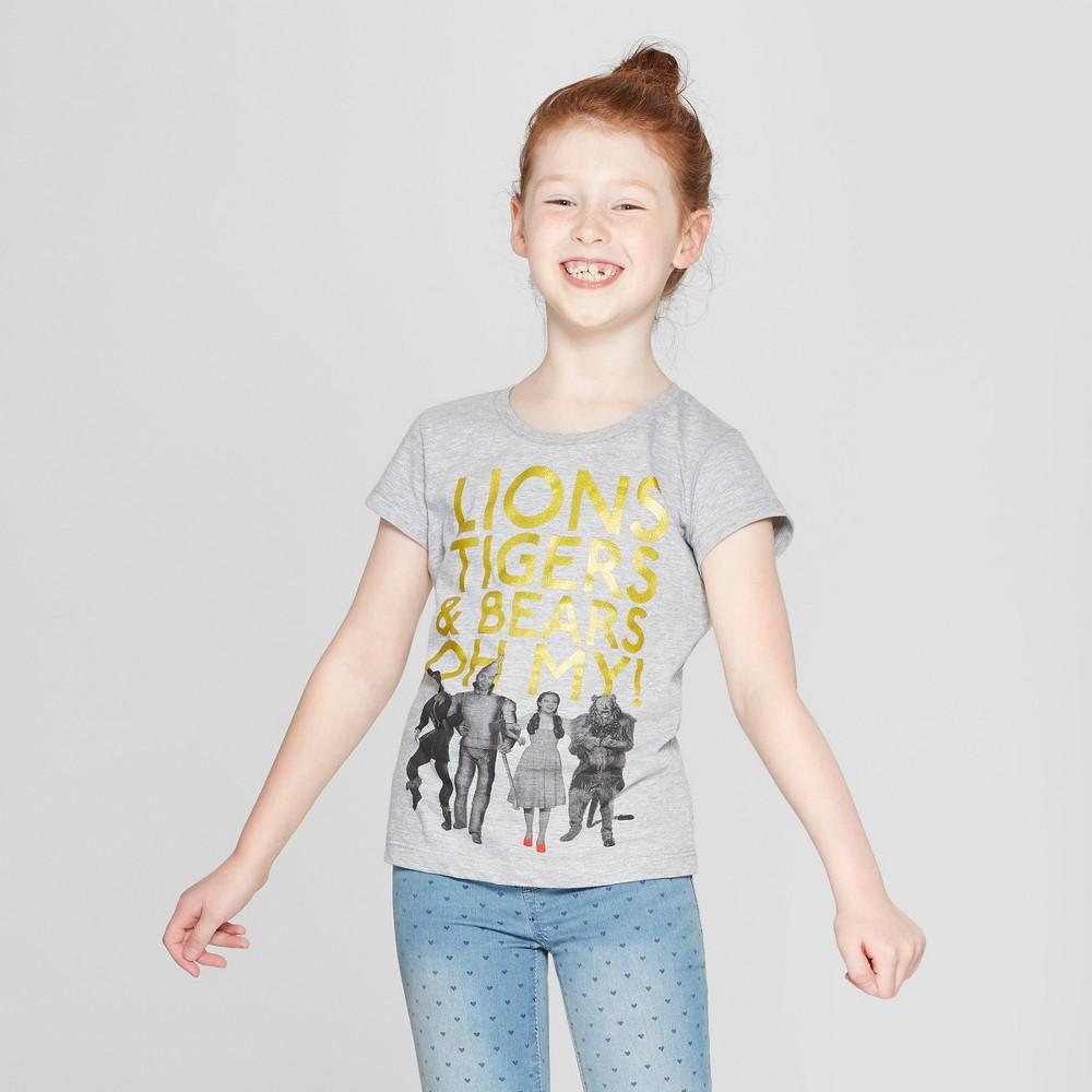 Girls' Wizard Of Oz Short Sleeve T-Shirt - Athletic Heather XL, Gray