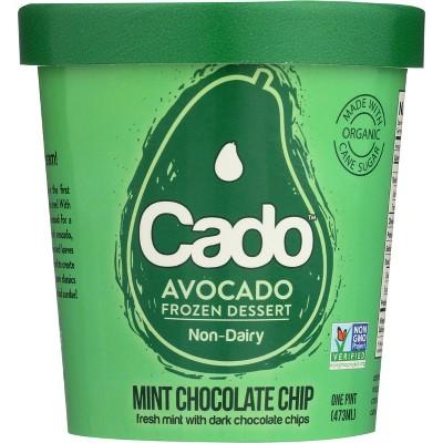 Cado Non-Dairy Avocado Frozen Dessert Mint Chocolate Chip - 1pt
