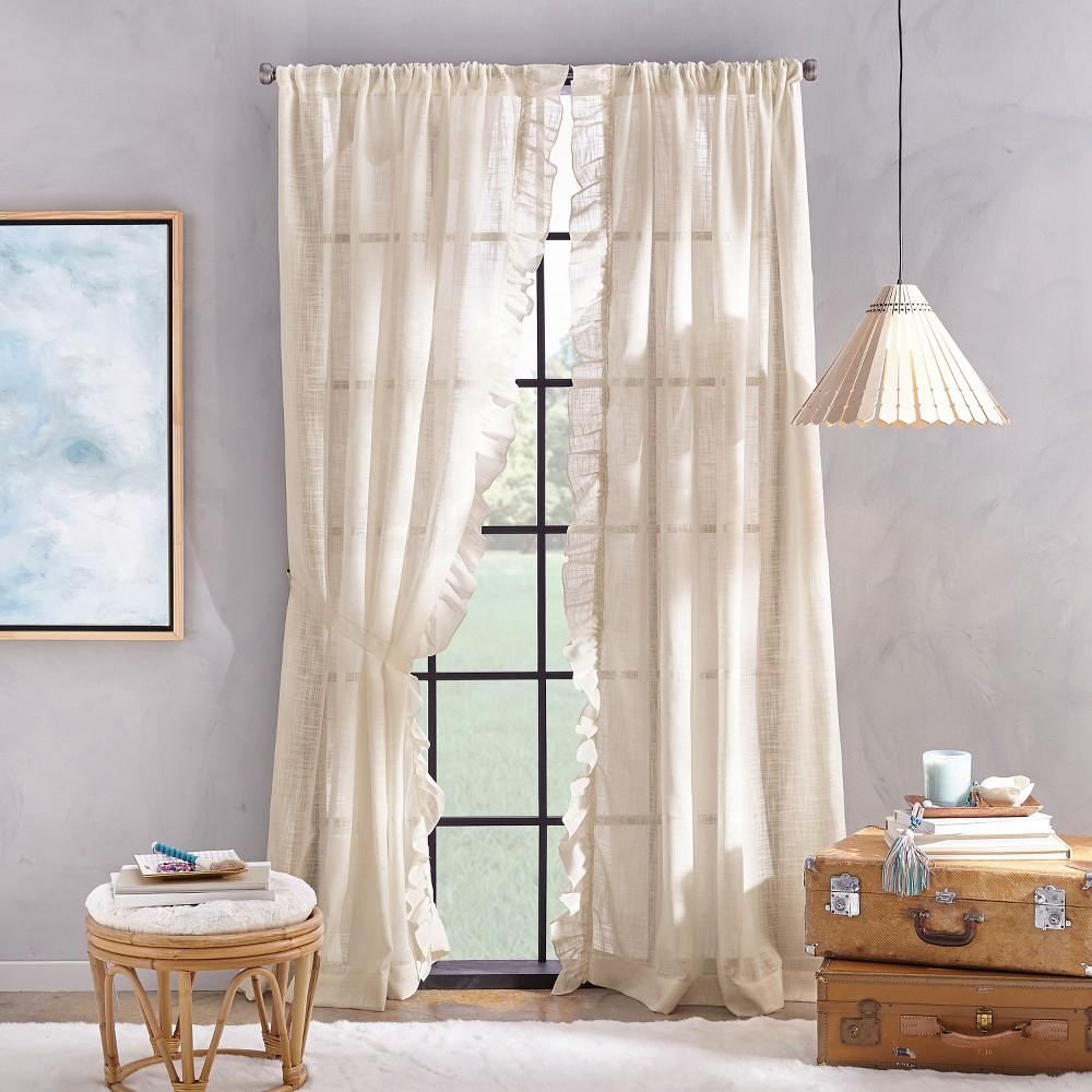 Image of 108 Arabella Flippable Curtain Panel Linen