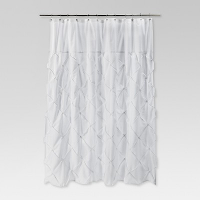 Pinch Pleat Shower Curtain Snow White - Threshold™