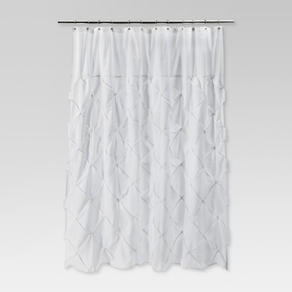 Pinch Pleat Shower Curtain Snow White Threshold 8482