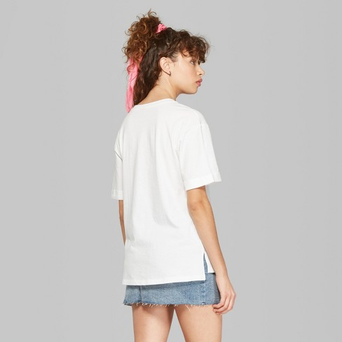 2b40cc1be4e Women's Oversized Short Sleeve Crew Neck Embroidered T-Shirt - Wild Fable™  White. Shop all Wild Fable