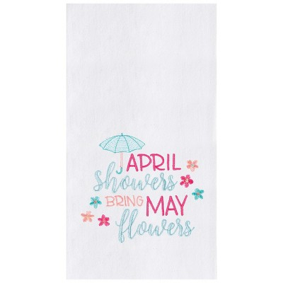 C&F Home April Showers Bring May Flowers Spring Kitchen Towel