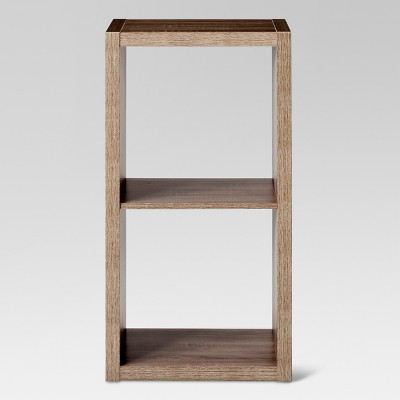 "2-Cube Organizer Shelf Weathered Gray 13"" - Threshold™"
