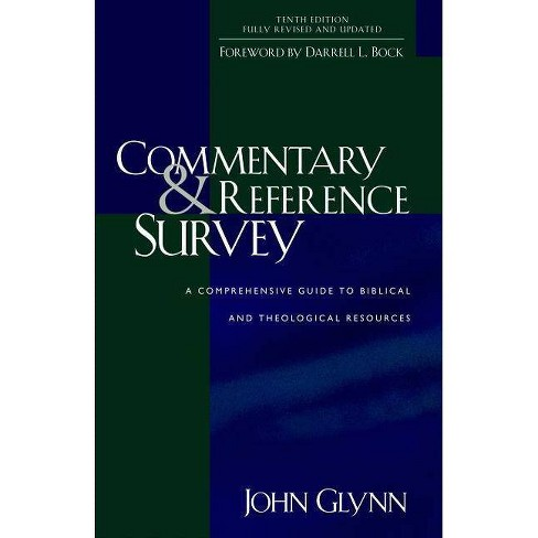Commentary and Reference Survey - 10 Edition by  John Glynn (Paperback) - image 1 of 1