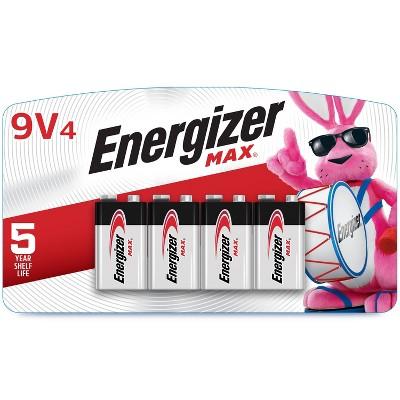 Energizer 4pk MAX Alkaline 9V Batteries