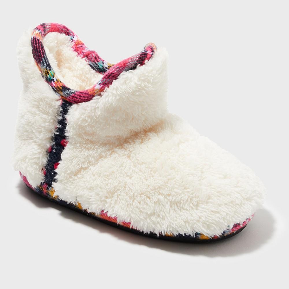 Girls' Dearfoams Bootie Slippers - Light Tan 4-5