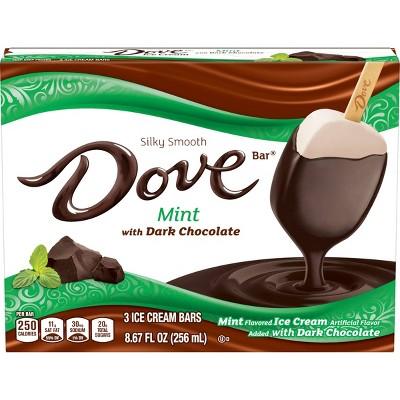 Dove Mint with Dark Chocolate Ice Cream Bars - 3ct