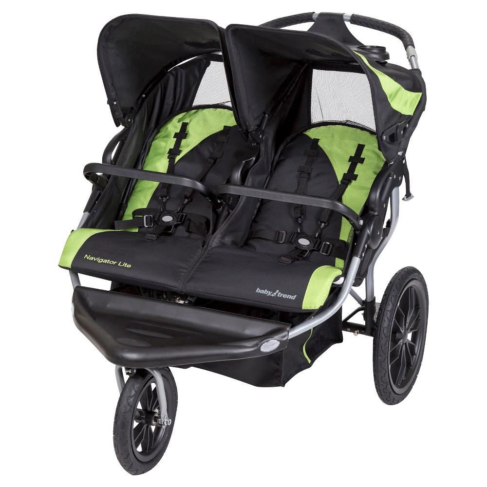 Baby Trend Navigator Lite Double Jogger Stroller, Black