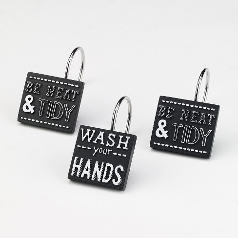 Avanti Chalk It Up Shower Hooks - White - image 1 of 1