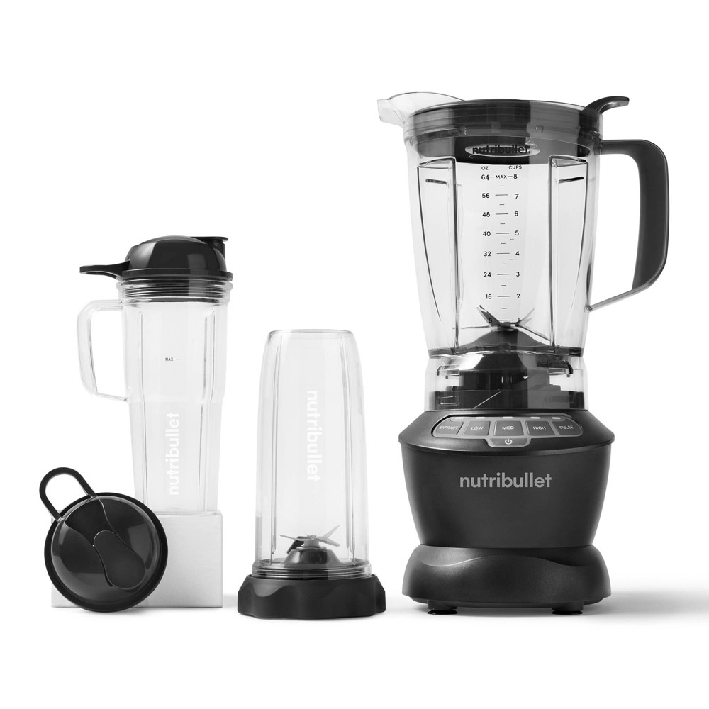 Got kitchen ambitions? The NutriBullet combo blender is our one-for-all option: a super-capable, super-flexible blender that makes everything from simple smoothies to savory soups and beyond. Its high-capacity 64oz. pitcher is the ultimate countertop titan, while its portable travel cups keep you nourished on-the-go. Our blades, cups and pitcher are designed to work together for optimal nutrient extraction, turning ordinary food into superfood.
