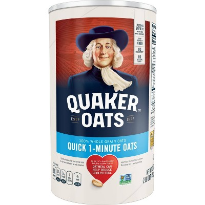 Quaker Oats Heart Healthy Quick 1-Minute Oats - 42oz