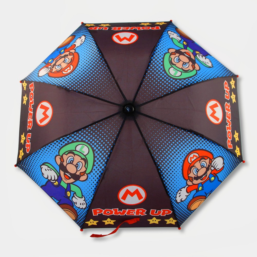 Image of Boys' Mario Stick Umbrella - Brown