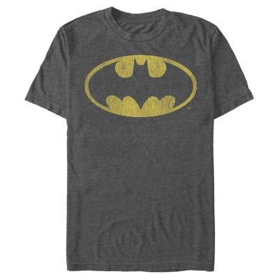 Men's Batman Logo Retro Caped Crusader T-Shirt