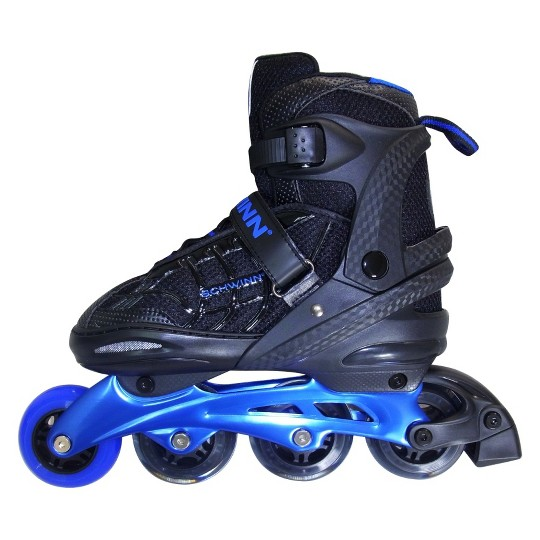 Schwinn Unisex Adjustable Inline Skate (6-7) - Black/Blue image number null