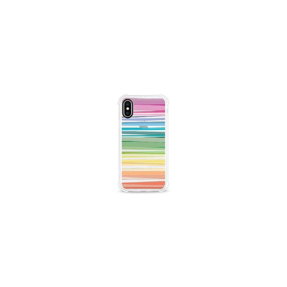 Otm Essentials Apple iPhone X/XS Rugged Edge Clear Case - Pastel Stripes