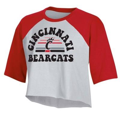NCAA Cincinnati Bearcats Women's Short Sleeve Cropped T-Shirt