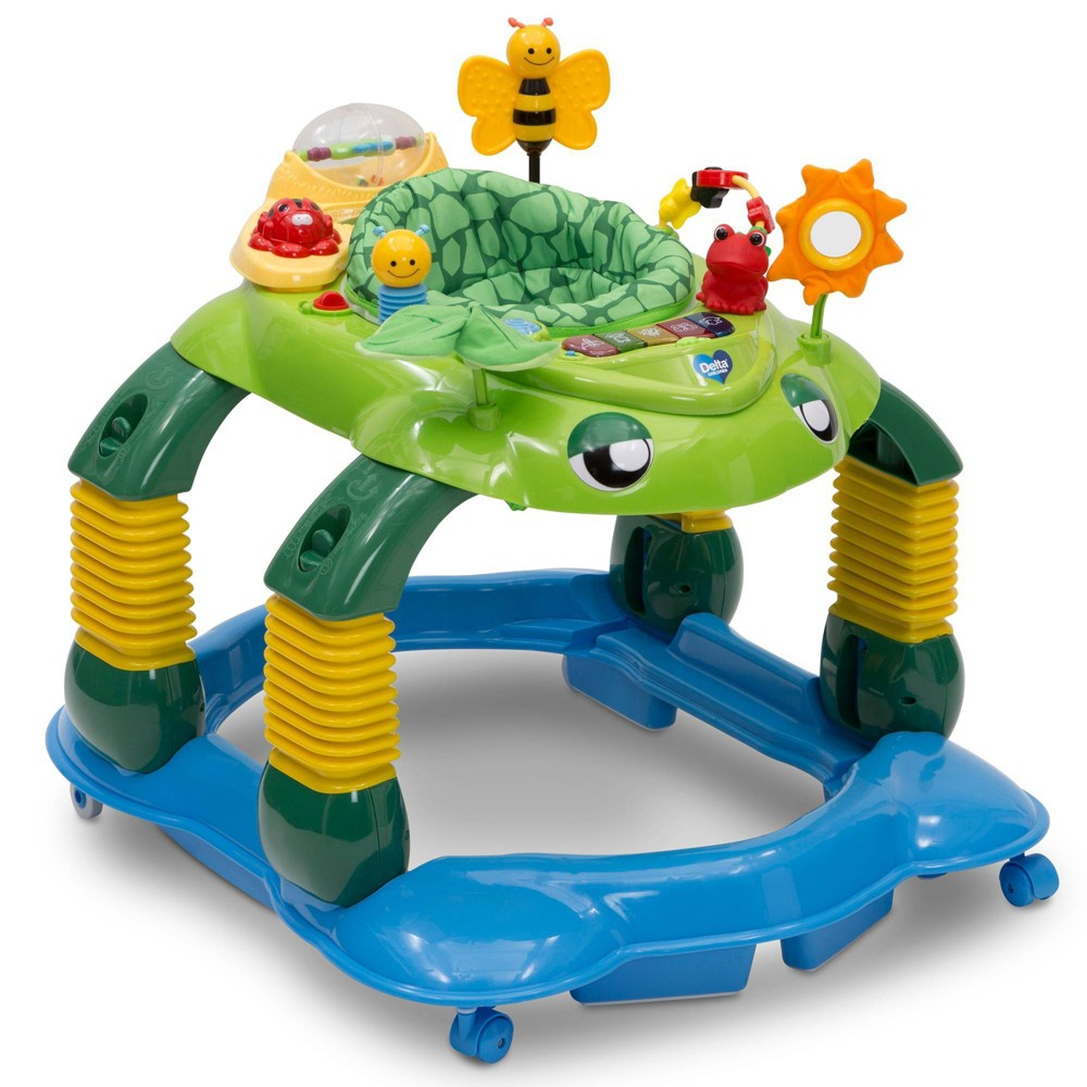 Image of Delta Children Lil Play Station 4-in-1 Activity Walker - Mason The Turtle