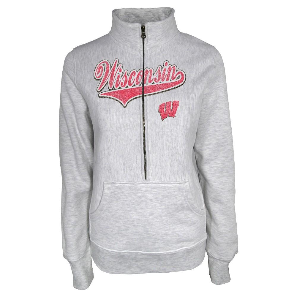 NCAAWisconsin Badgers Women's Sweatshirt - Gray L