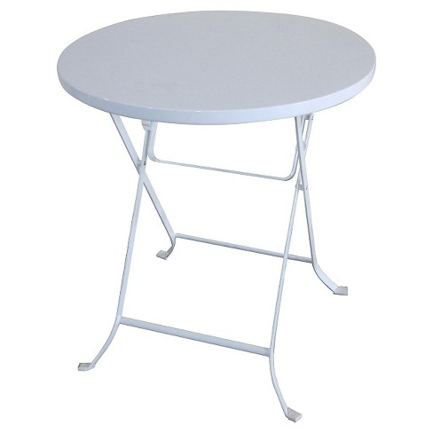 "24"" Metal Folding Table White - Threshold™ - image 1 of 1"
