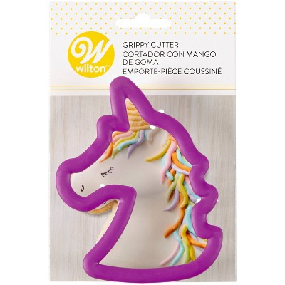 Wilton Unicorn Grippy Cookie Cutter - Purple