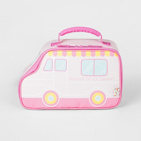 Kids Lunch Bag With Ice Pack Art Class Pink