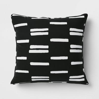 Outdoor Deep Seat Pillow Back Cushion DuraSeason Fabric™ Black/White - Project 62™