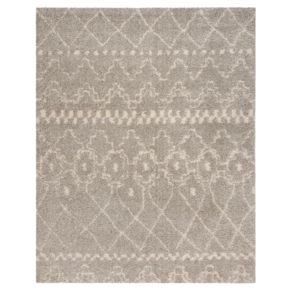 Gray/Ivory Geometric Loomed Area Rug 8'X10' - Safavieh, Gray White