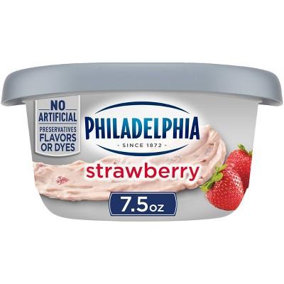 Philadelphia Regular Strawberry Cream Cheese Tub - 7.5oz