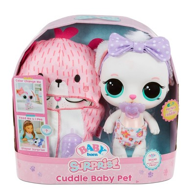 BABY Born Surprise Cuddle Baby Pet – Bunny Really Drinks & Pees