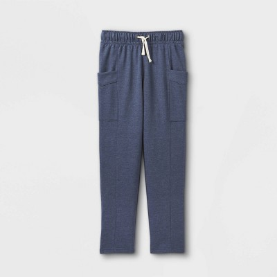 Boys' French Terry Knit Cargo Jogger Pants - Cat & Jack™ Blue