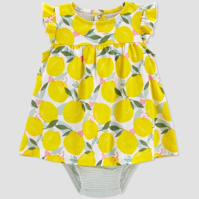 Baby Girls' Lemon Romper - Just One You® made by carter's Yellow
