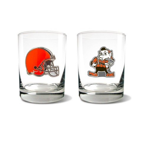 NFL Cleveland Browns Rocks Glass Set - 2pc - image 1 of 1