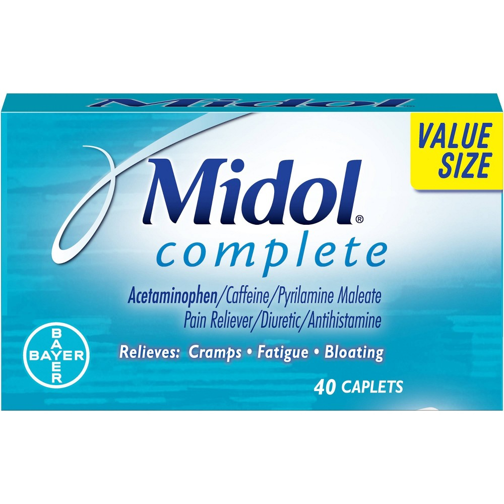 Midol Menstrual Symptom Relief Tablets - Acetaminophen - 40ct