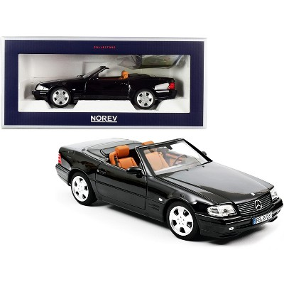 1999 Mercedes Benz SL 500 Convertible Black 1/18 Diecast Model Car by Norev