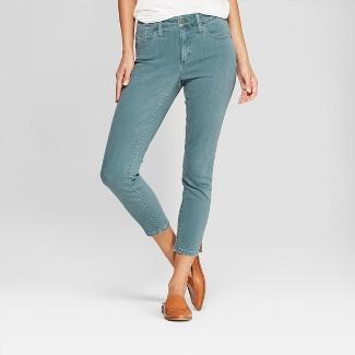 Women's High-Rise Skinny Crop Jeans - Universal Thread™ Green 2