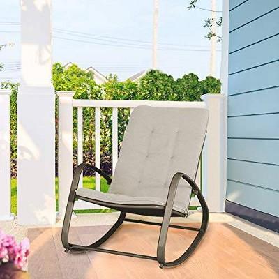Outdoor Rocking Chair - Black - Captiva Designs