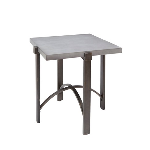 Silverwood Lewis End Table With Square Concrete Finish Top Gray - image 1 of 3